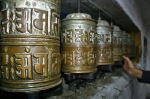 A symbol of peace, prayer wheels on the way to Goykio and Everest base camp, Nepal - Photo Douggs
