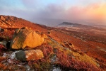 Warm light over frozen land - Higger Tor