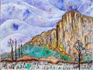 El-Cap-from-the-Meadow-Yosemite-National-Park-mixed-media-on-canvas