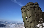 Adrian Berry soloing The File at Higgar Tor